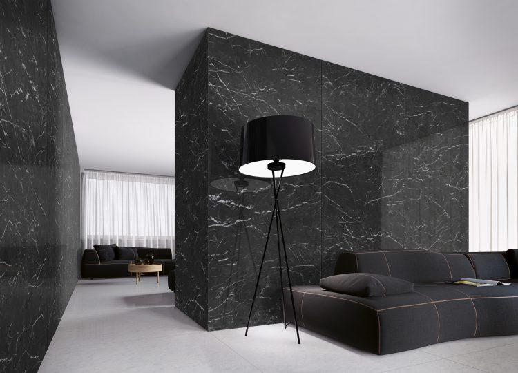 Ambienti nero-creta Fliesen aus echten Naturstein