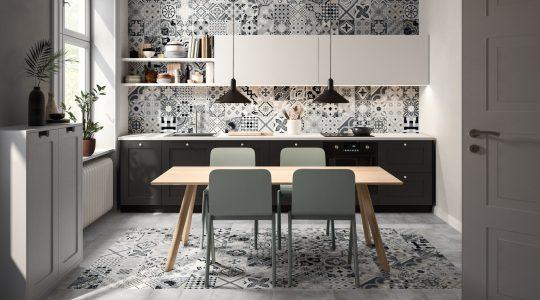 Ambienti Küche grigio multicolor Fliesen im Mosaikformat